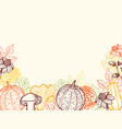 vintage floral autumn background vector image vector image