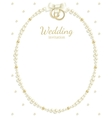 wedding jewel frame vector image vector image