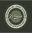 winner college athletics vector image vector image