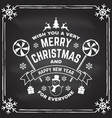 wish you a very merry christmas and happy new year vector image vector image