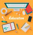 Trendy Flat Design Education vector image
