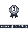 Award medals icon flat vector image