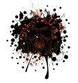 grunge floral gas mask vector image