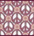 peace pattern creative doodle background hippie vector image