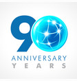 90 anniversary connecting logo vector image vector image