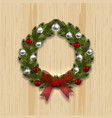 a green branch ate in the shape of a christmas vector image vector image