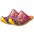 a pair of slippers of traditional oriental design vector image