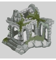 Abandoned ruins of ancient houses medieval style vector image vector image