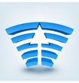 Abstract 3d arrow logo vector image vector image