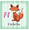 Alphabet F vector image vector image