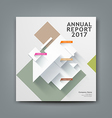 Annual report paper architecture vector image vector image