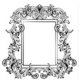 baroque frame mirror decor for invitation wedding vector image vector image