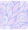 Blue and pink trendy colors hand drawn curly waves vector image vector image