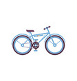blue bike modern bicycle vector image