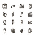 brewery sign black thin line icon set vector image vector image