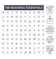 business essentials editable line icons 100 vector image vector image