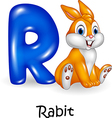 Cartoon of R letter for Rabbit Cartoon vector image vector image