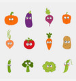 cartoon vegetable cute vector image vector image