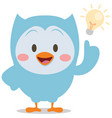 character owl with idea vector image