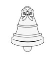 christmas bell isolated vector image