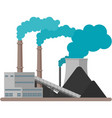 coal factory plant building on vector image