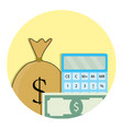 counting money icon vector image vector image