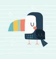 cute toucan in a scandinavian vector image vector image