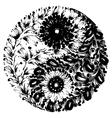 decorative silhouette vector image