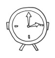 doodle alarm clock isolated vector image