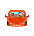 driver in red car vector image vector image