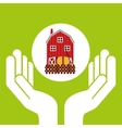 farm countryside hand holding design vector image vector image