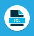 file sql icon colored symbol premium quality vector image vector image