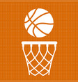 flat basketball background vector image vector image