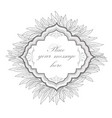 floral frame leaves vintage border nature vector image vector image