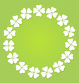 four leaf clover circular frame vector image vector image