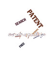 free patent search text background word cloud vector image vector image