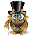 gentleman owl vector image vector image