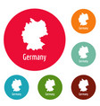 germany map in black simple vector image vector image