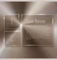 glass banner set on steel circular metallic vector image vector image