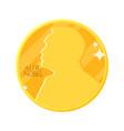 golden nobel medal in flat design vector image