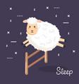 good night sleep cartoon sheep animals vector image vector image