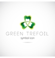 Green Trefoil Concept Symbol Icon or Label vector image vector image