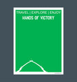 hands of victory baghdad iraq monument landmark vector image
