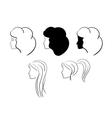 heads of women vector image