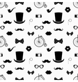 Hipster Black and White Seamless Pattern vector image vector image