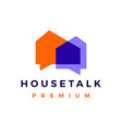 house talk chat bubble logo icon vector image