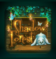 icon for game user interface shadowy forest vector image vector image