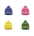 knitted winter hat set vector image vector image