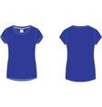 Ladies Sport T-shirt vector image vector image