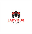 lady bug logo film media entertainment vector image vector image
